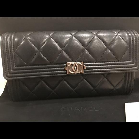 18c569e58cfb50 CHANEL Bags | Flap Wallet Lambskin Leather | Poshmark